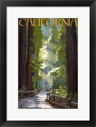 Framed California 1 Print