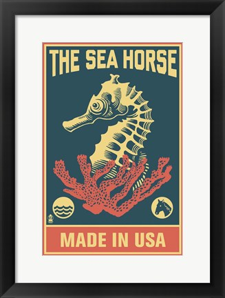 Framed Sea Horse Print