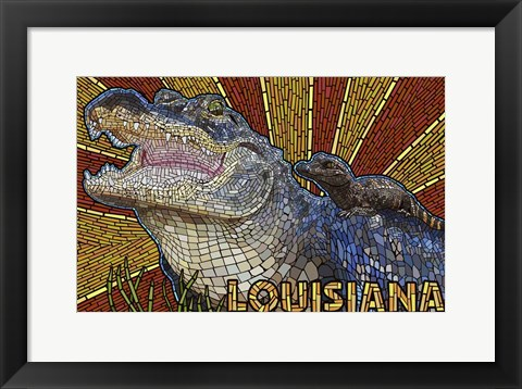 Framed Louisiana Print