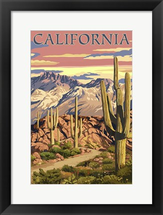 Framed California 2 Print
