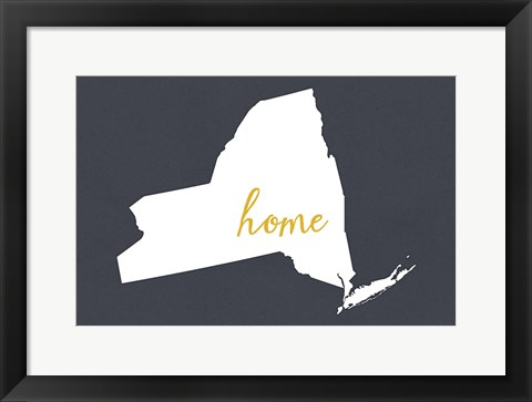 Framed NY State Home Print