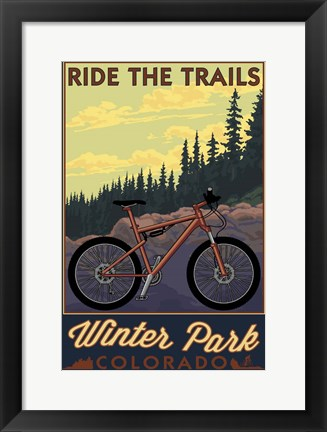 Framed Winter Park Print