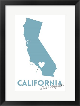 Framed California - LA Print