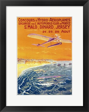 Framed Concours D'Hydro Aeroplanes Print