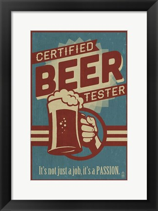 Framed Beer Tester Print