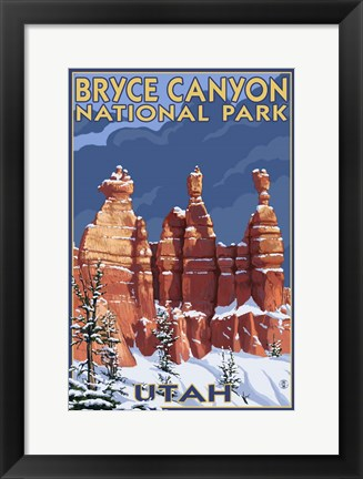 Framed Bryce Canyon - Winter Print