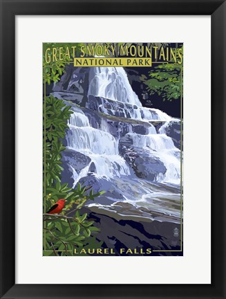 Framed Laurel Falls Print