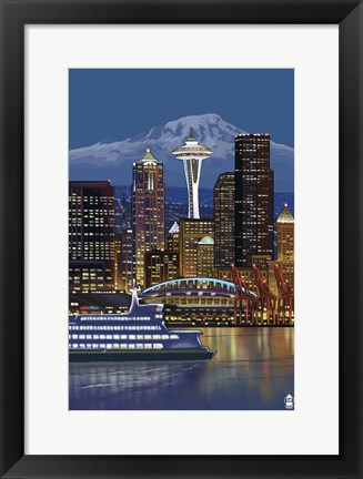 Framed Seattle Print