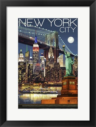 Framed New York City 1 Print