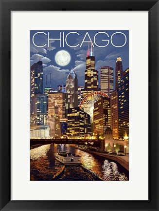 Framed Chicago IL Print