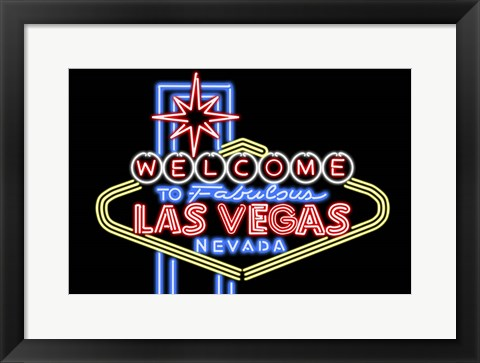 Framed Welcome to Las Vegas Print