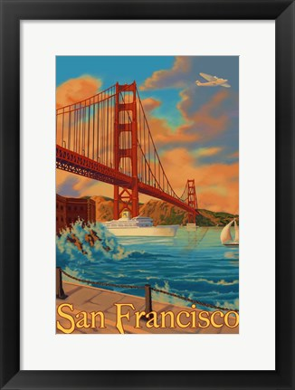 Framed San Francisco CA Print