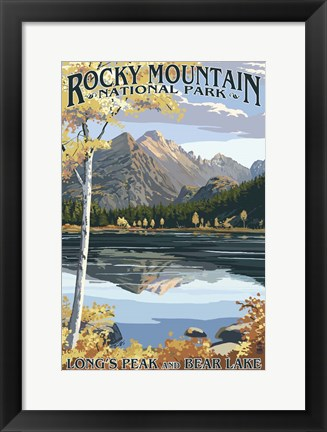 Framed Rocky Mountain 1 Print