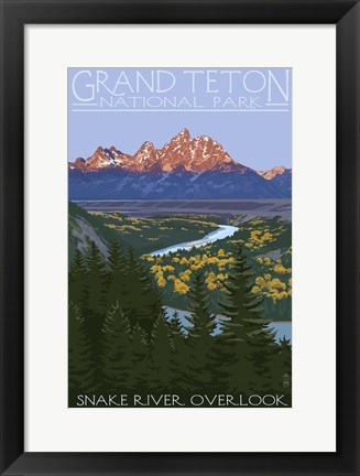 Framed Grand Teton Print