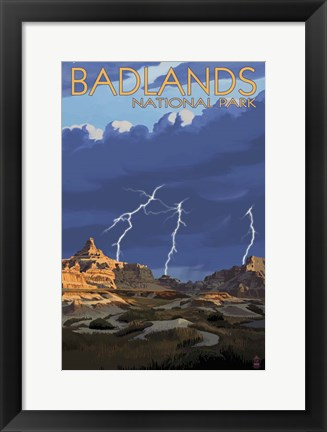 Framed Badlands National Park Print
