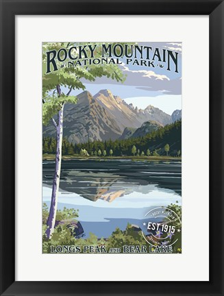 Framed Rocky Mountain 3 Print