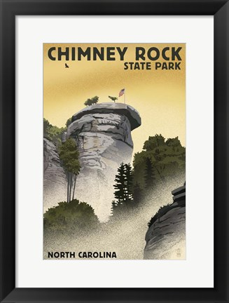Framed Chimney rock Print