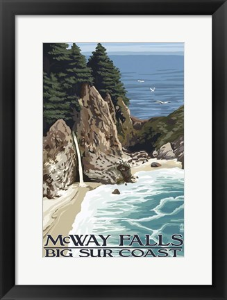 Framed McWay Falls Print