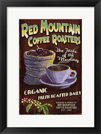 Framed Red Mountain Coffee Print
