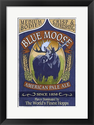 Framed Blue Moose Pale Ale Print