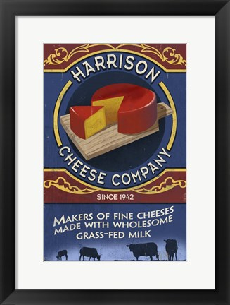 Framed Harrison Cheese Co. Print