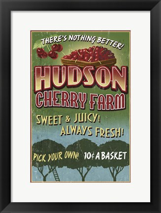Framed Hudson Cherry Farm Print