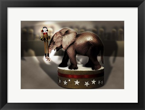 Framed Elephant Dancer Print