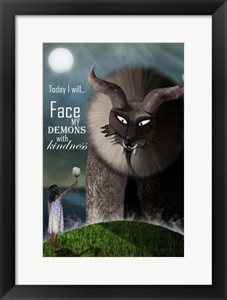 Framed Face your Demons Print