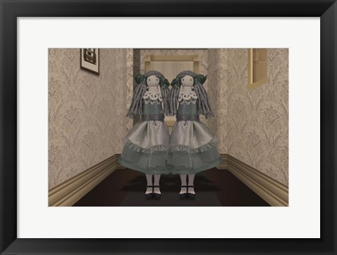 Framed Twins in the Hallway Print