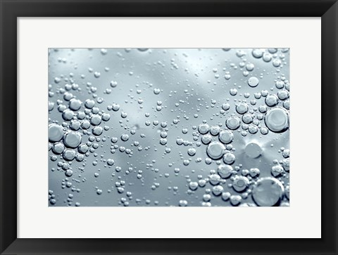 Framed Chrome Bubbles Print