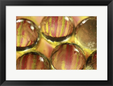 Framed Stripey Bubbles Print