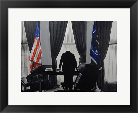 Framed JFK Bay of Pigs Print