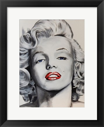 Framed Pin up Marilyn Print