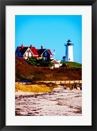 Framed Nobska Lighthouse Portrait Print