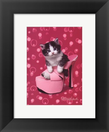 Framed Platform Kitty Print