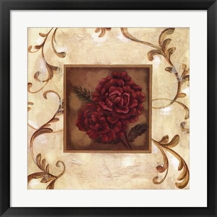 Framed Golden Scroll I Print