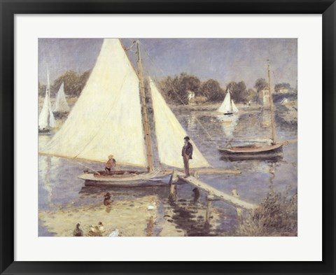 Framed Seine At Argenteuil Print