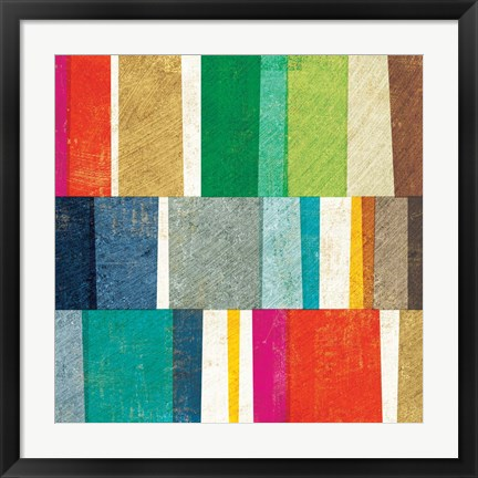 Framed Colorful Abstract Print