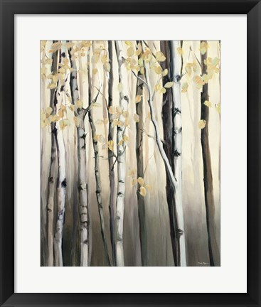 Framed Golden Birch II Print