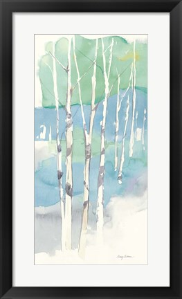 Framed Aspens Panel II Print