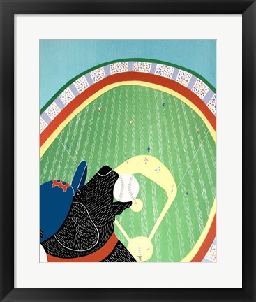 Framed Baseball Champs Black Print