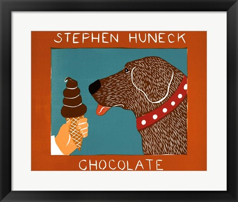 Framed Chocolate Chocolate Dog Print