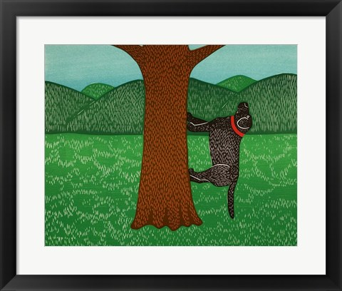 Framed Climbing a Tree Black Print