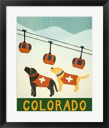 Framed Colorado Ski Patrol Print