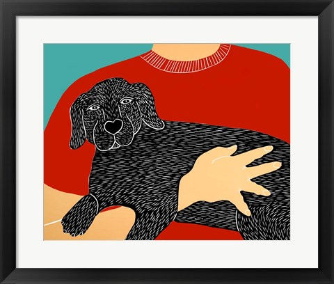 Framed Dogs Can Heal a Broken Heart Print