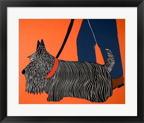 Framed Dogs Can Heel Print