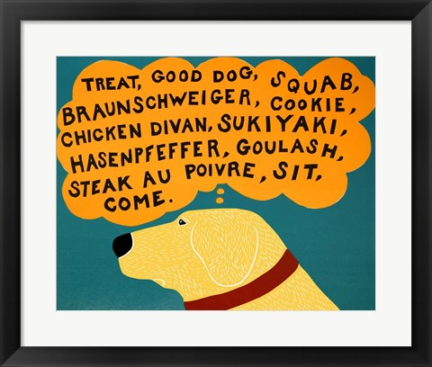 Framed Dogs Can Only Learn a Few Words Print