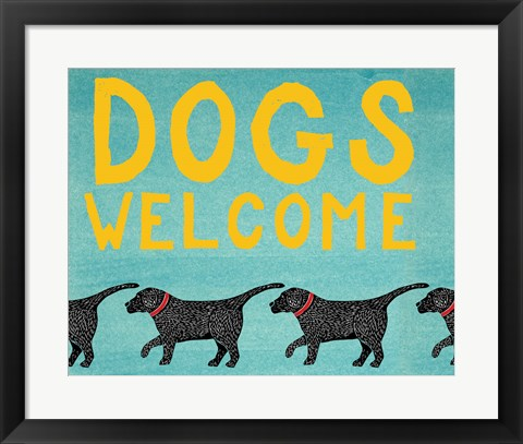 Framed Dogs Welcome Print