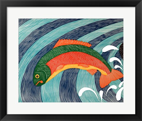 Framed Fish are Jumping 2 Print