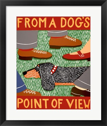 Framed From a Dog's Point of View Black and Tan Print